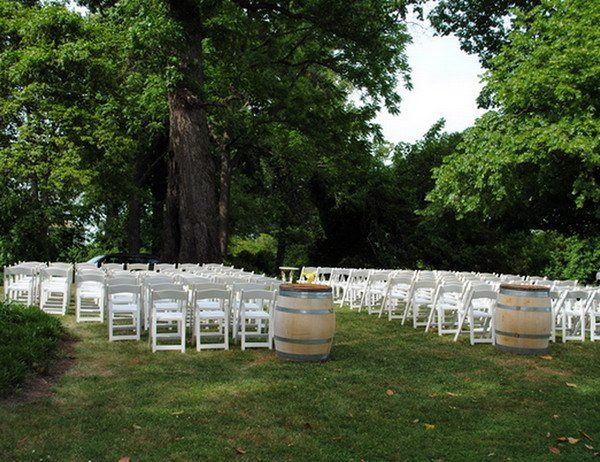 Exchange of vows under the umbrella of an ancient poplar tree