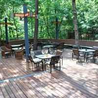 Our beautiful deck.  Breakfast, cocktails or just relaxing are all better here!