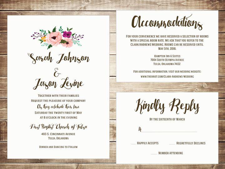 Tmx 1489679758189 Group1 Tulsa, OK wedding invitation