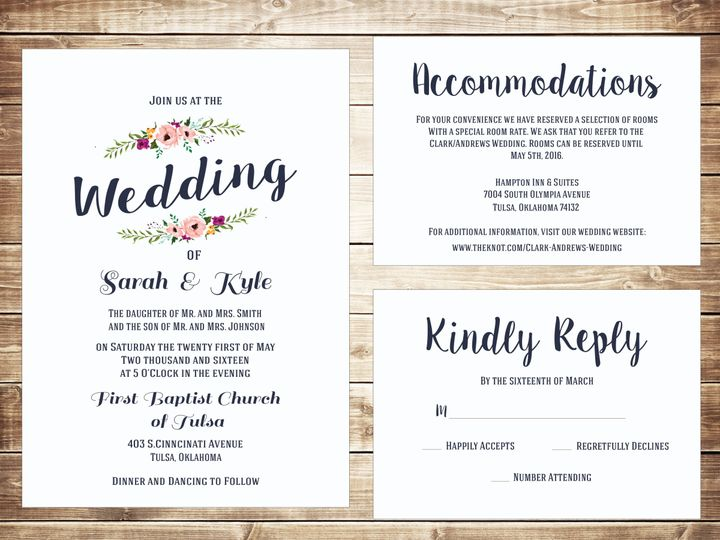Tmx 1489679786081 Group3 Tulsa, OK wedding invitation