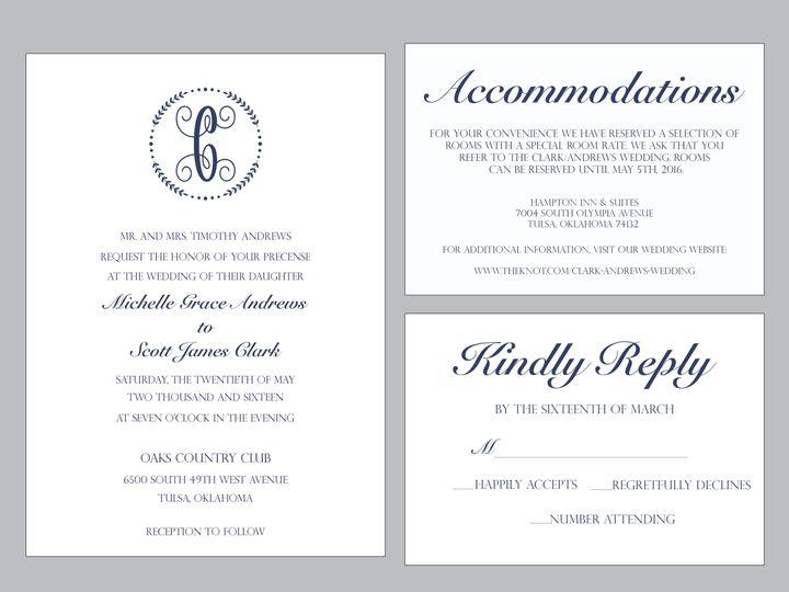 Tmx 1489679824549 Group4 Tulsa, OK wedding invitation