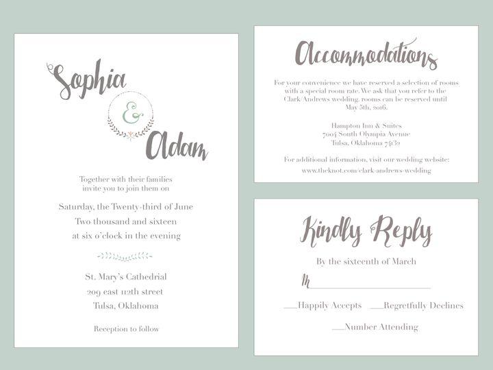 Tmx 1489679845297 Group5 Tulsa, OK wedding invitation