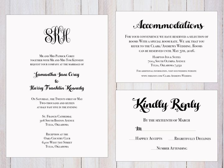Tmx 1489679897641 Group7 Tulsa, OK wedding invitation