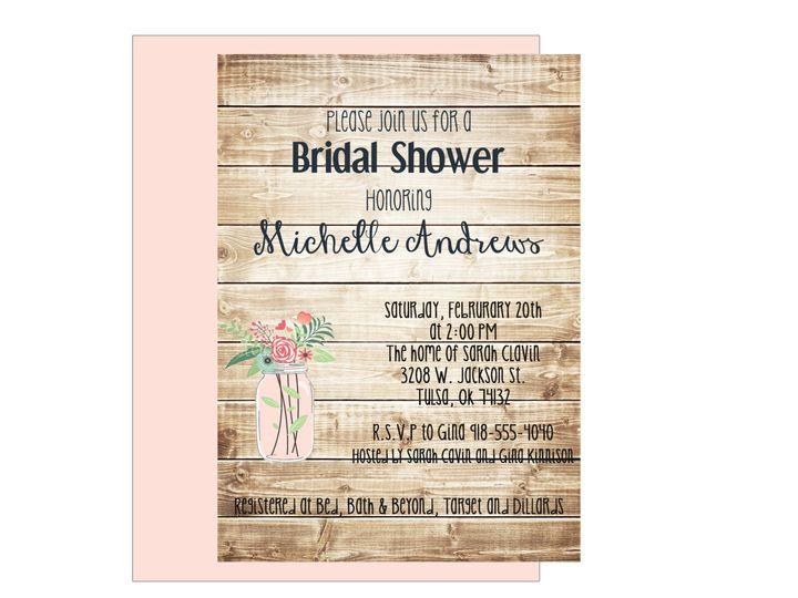 Tmx 1489680331143 Bridal Shower 1 Etsy Tulsa, OK wedding invitation