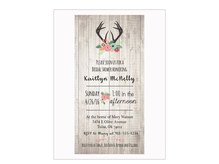 Tmx 1489680335662 Bridal Shower 2 Etsy Tulsa, OK wedding invitation