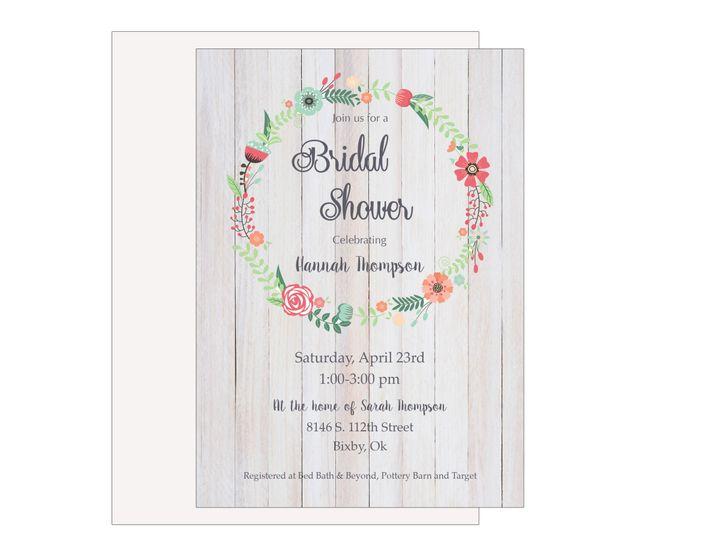 Tmx 1489680456764 Bridal Shower 8 Etsy Tulsa, OK wedding invitation