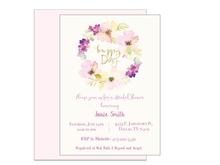 Tmx 1489680566075 Bridal Shower 12 Etsy Tulsa, OK wedding invitation