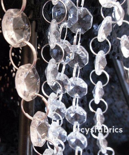 Glass Vintage Chandelier Garland for wedding trees