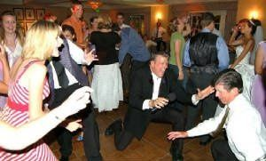 The Dj dancing with the guests
