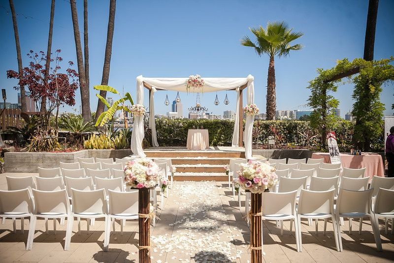 Beautiful jardin ceremony location