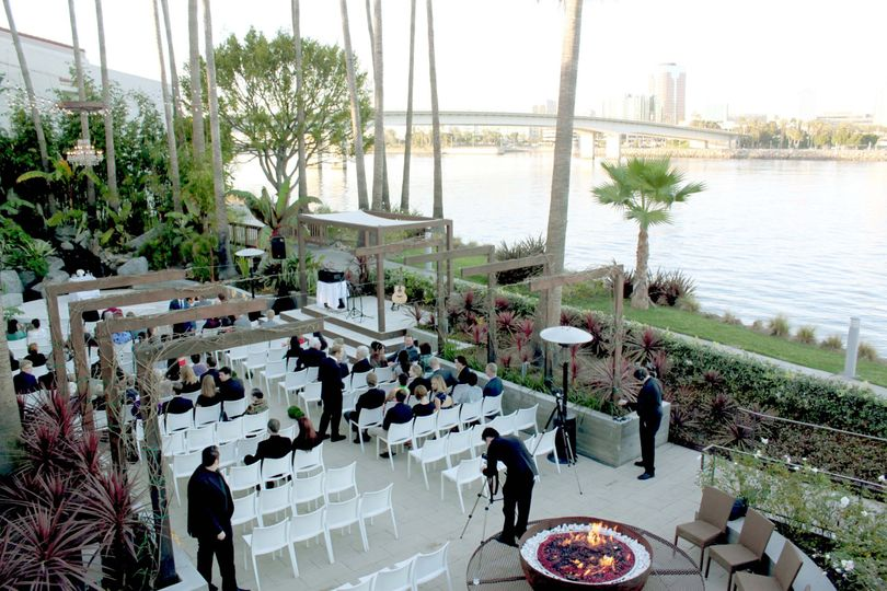 View of the Jardin ceremony space from above.