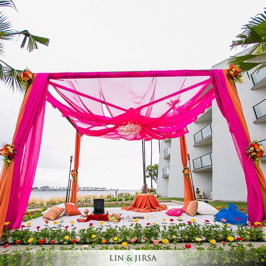 Beautiful ceremony structure in our brand new vista del mar