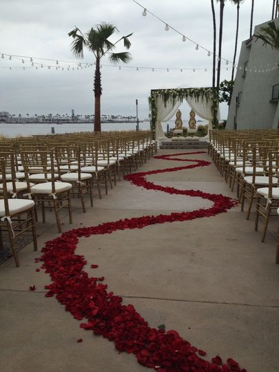 vista del mar ceremony