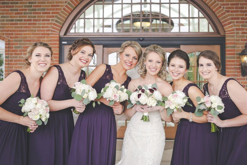 Plum Bridesmaids