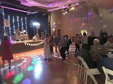 Guests in the dance floor