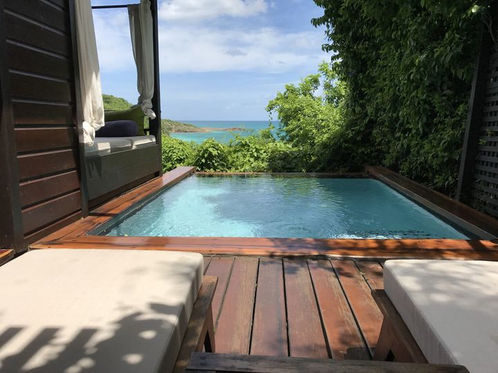 Hermitage Bay Antigua- hilltop suites with private plunge pool, outdoor shower and amazing views...