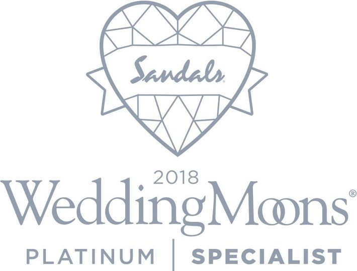 So proud to have earned the elite status of Platinum Sandals Wedding Specialist