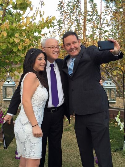 Selfie with the officiant