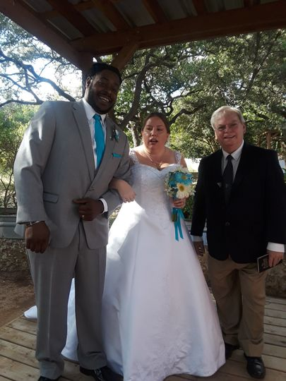 Rev. Jim with Newlyweds