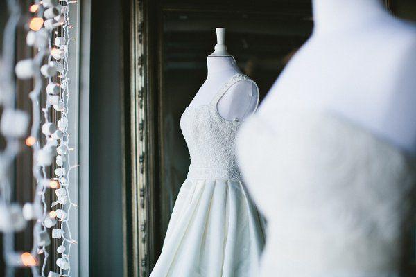 Crisp white wedding dresses