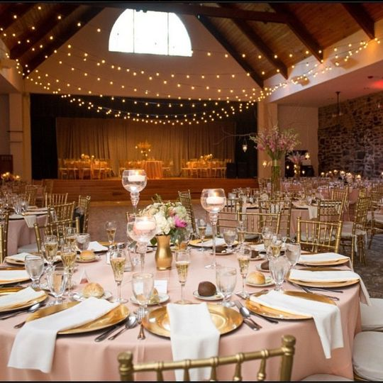 The blush pink tables | Pictures by Todd