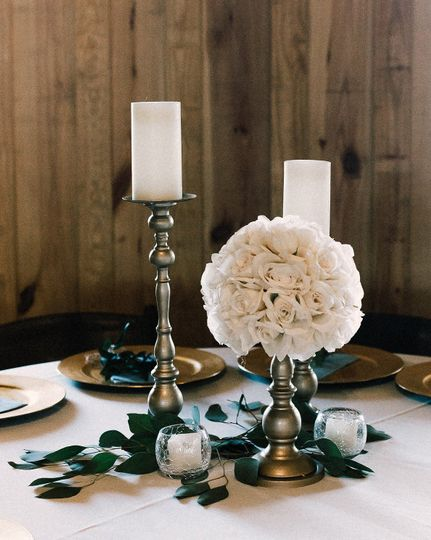 Rose and Gold Centerpiece
