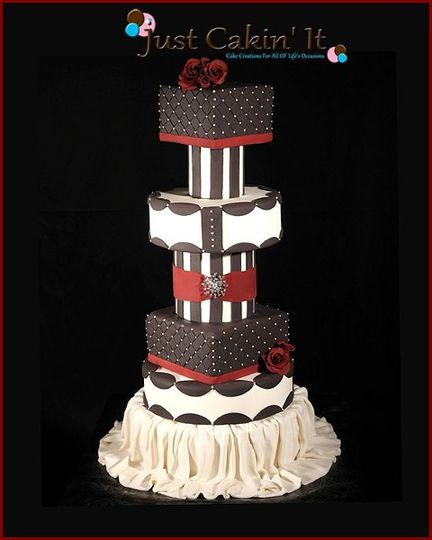 Modern Bride Wedding Cake