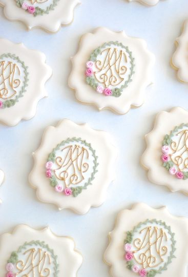 Custom Monograms Replicated for Wedding Favors