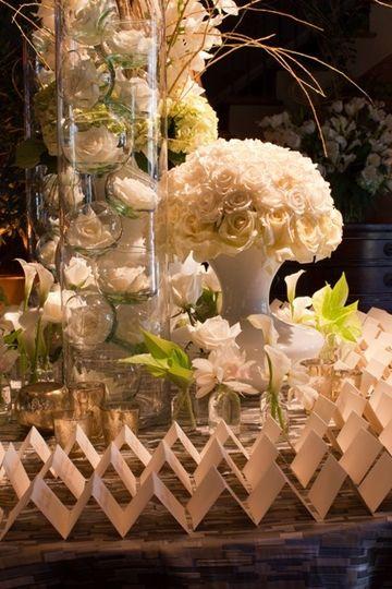 White tall roses