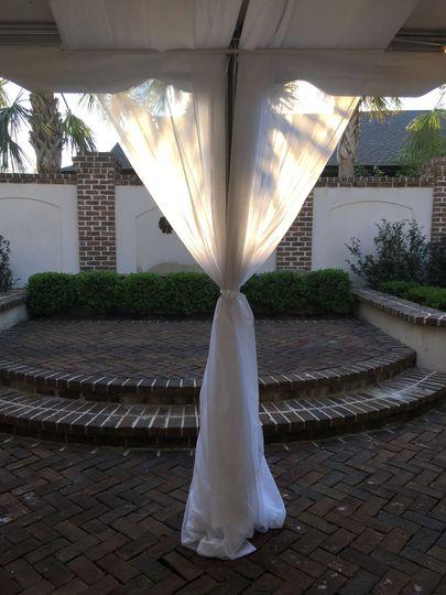 White wedding draping