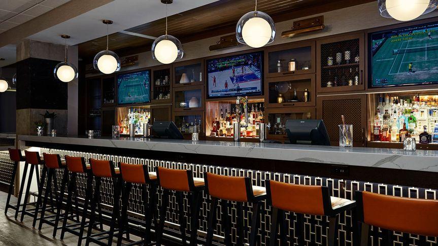 Enjoy a beverage at the bar