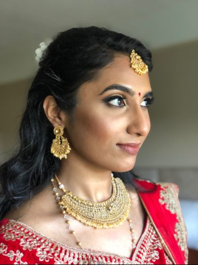 South Indian Engagement Look