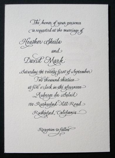 letterpress invit