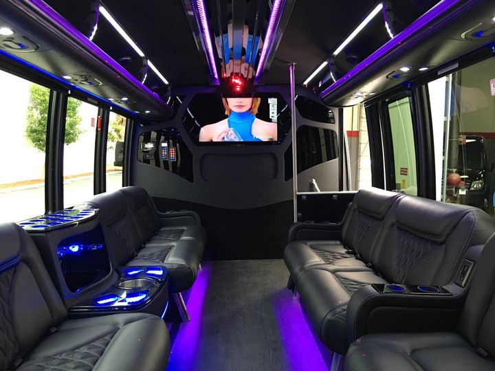 Tmx 1495134878721 Limo Bus   Partition And Interior Seating Front Port Chester, New York wedding transportation