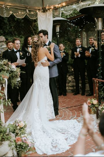 First kiss as Mr. & Mrs.