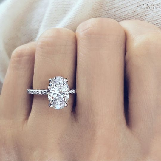 2ct oval cut diamond solitaire