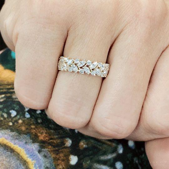 Custom yellow diamond band