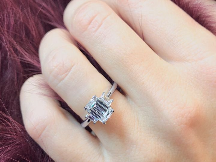 Tmx Emerald Cut Diamond Engagement Ring With Side Diamonds By Ascot Diamonds 51 71656 Atlanta, GA wedding jewelry