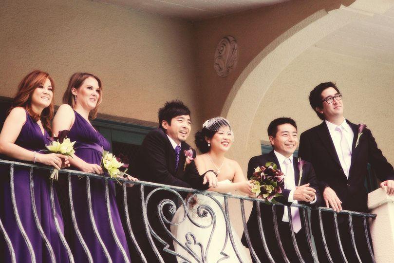 bridal party at ywca wedding