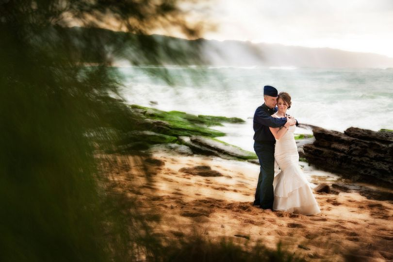 north shore beach wedding