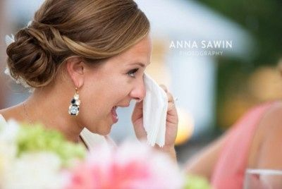 Teary bride