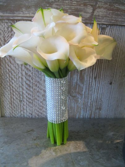 Bridal Bouquet - White Calla Lilies