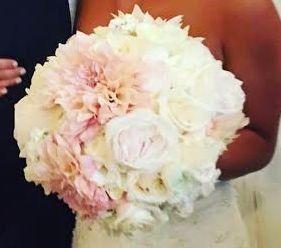 Tmx 1445879998404 Caf Ole Dahlia  White Garden Roses White Ohara Gar Highland Mills wedding florist