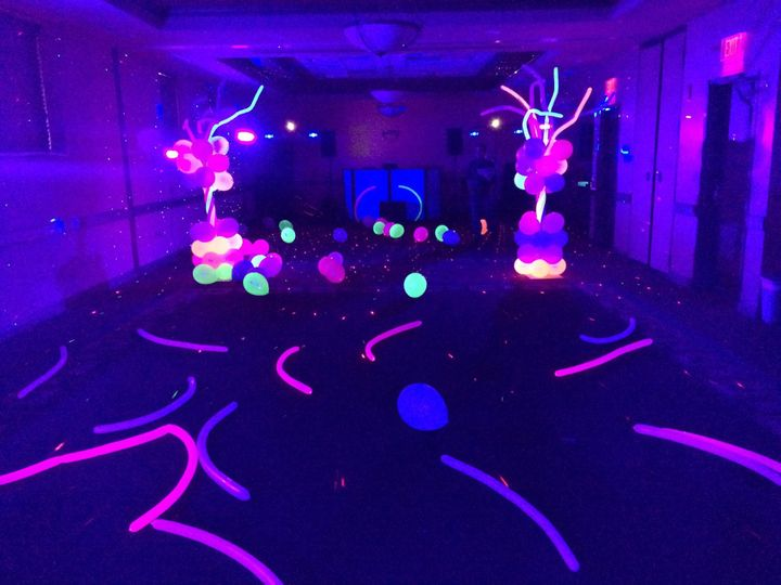 Foam party set up