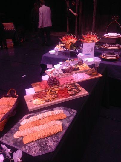 Indoor buffet reception