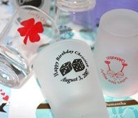 Personalized Shot Glasses - clear or frosted