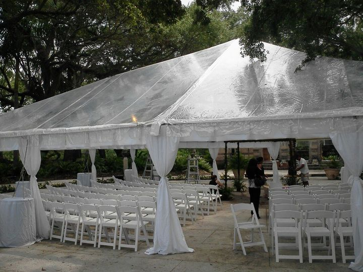 clear tent on star islan