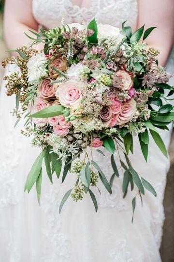 Blush & Green Wedding Bouquet