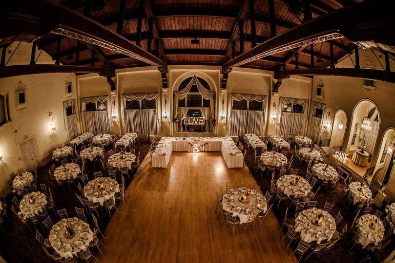 Ballroom and reception area