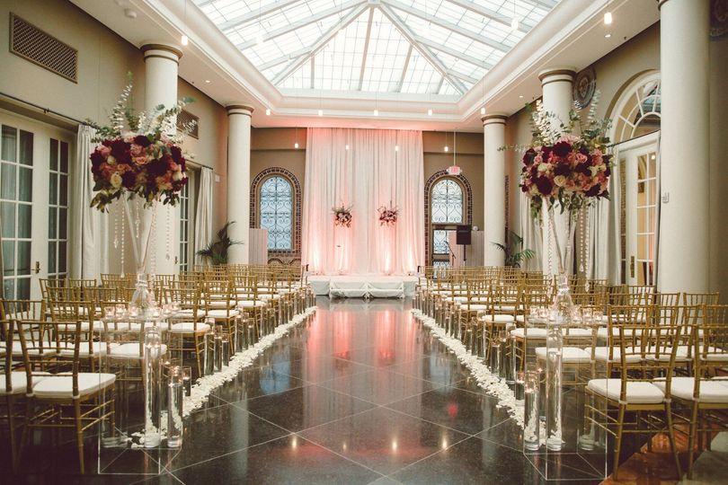 Atrium Ceremony with draping